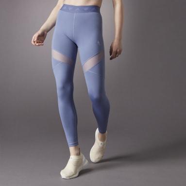 Women Gym & Training Purple Hyperglam High-Rise Long Leggings