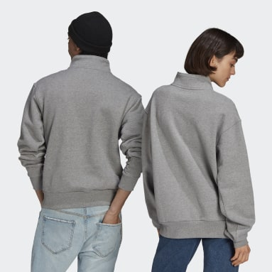 Heavyweight Shmoofoil 1/4 Zip Sweatshirt (uniseks) Szary