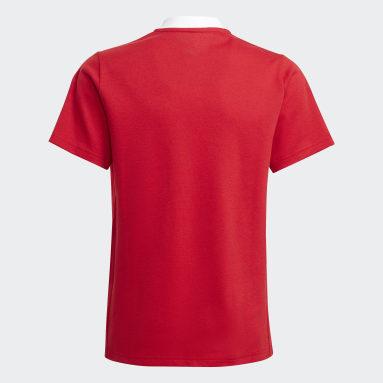 Kids Football Red Tiro 21 Polo Shirt