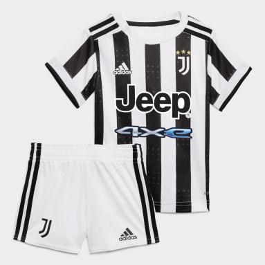 Kit Principal 21/22 da Juventus para Bebé Branco Criança Futebol
