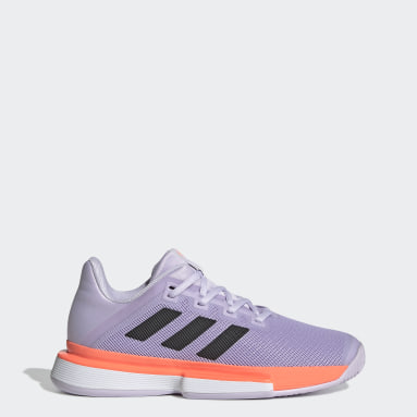 Women Tennis Purple SoleMatch Bounce Hard Court Shoes