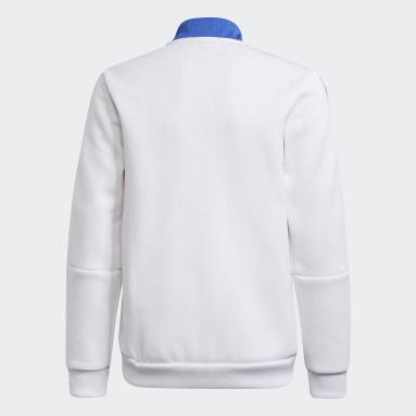 Boys Fotboll Vit Real Madrid Tiro Anthem Jacket