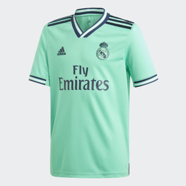 Youth 8-16 Years Football Green Real Madrid Third Jersey