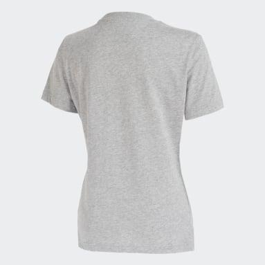 Camiseta Estampada CR Flamengo Cinza Mulher Futebol