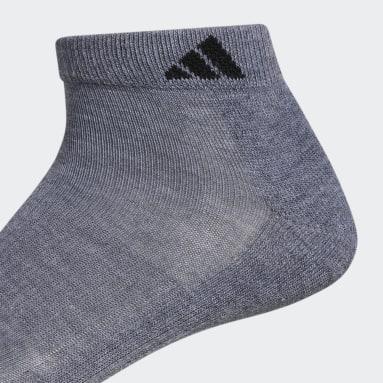 Men's Running Grey Athletic Cushioned Low Socks 6 Pairs