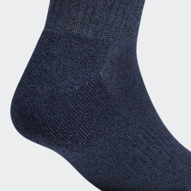 Men's Training Blue Athletic Quarter Socks 6 Pairs