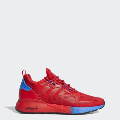 Männer Originals ZX 2K Boost Schuh Rot
