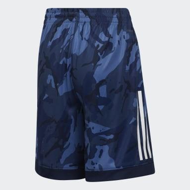 Youth Training Blue AEROREADY Core Camo Shorts