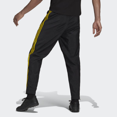 Men Football Black Manchester United Icons Woven Tracksuit Bottoms