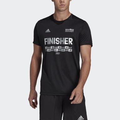 T-shirt Berlin Marathon Finisher Nero Uomo Running