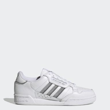 Kadın Originals Beyaz Continental 80 Stripes Ayakkabı