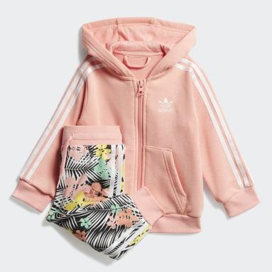 Conjunto sudadera con capucha y pantalón Rosa Niña Originals