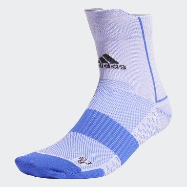 Running Blue Running Adizero Ultralight Quarter Performance Socks