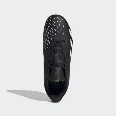 Boys Football Black Predator Freak.4 Flexible Ground Boots