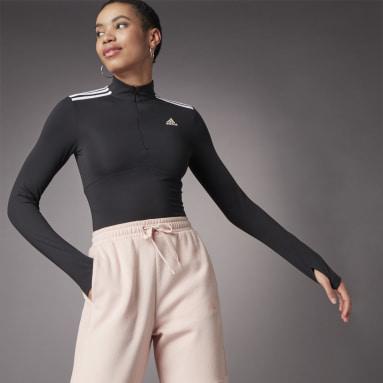 Playera Hyperglam Cierre Corto Negro Mujer Sportswear