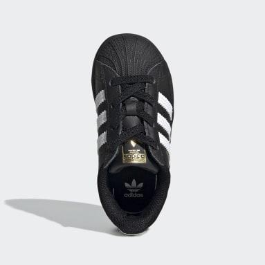 Infant & Toddler Originals Black Superstar Shoes