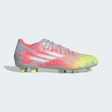 Calzado de Fútbol X Speedflow.3 Terreno Firme Gris Fútbol