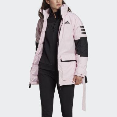 Dames City Outdoor roze Utilitas Donsjack