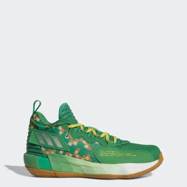 บาสเกตบอล สีเขียว รองเท้า Dame 7 EXTPLY