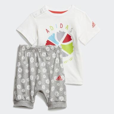 Conjutno de Verano Bebé Blanco Niño Training