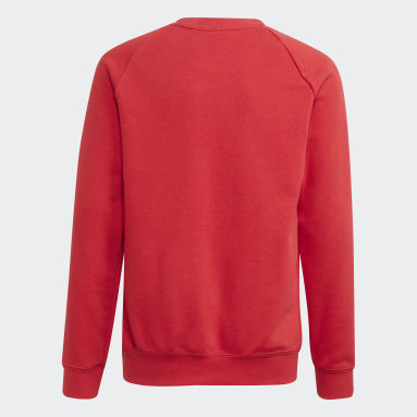 Youth Soccer Red Manchester United Crew Sweatshirt