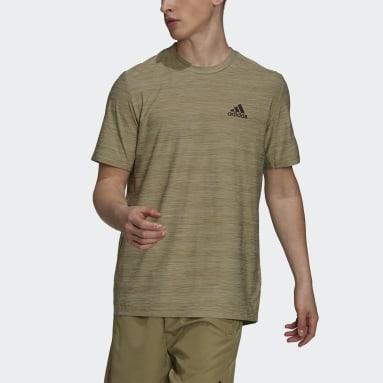 Camiseta elástica AEROREADY Designed To Move Sport Verde Hombre Gimnasio Y Entrenamiento