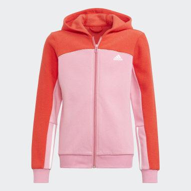 Veste à capuche adidas Colorblock Full-Zip Rose Filles Sportswear