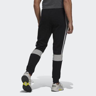 Pantalon Essentials Fleece Colorblock Noir Hommes Sportswear