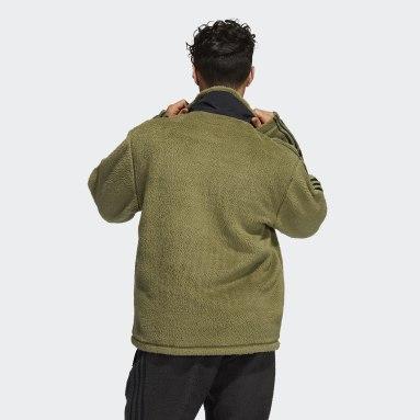 Men Originals Green adidas SPRT Firebird Sherpa Track Jacket