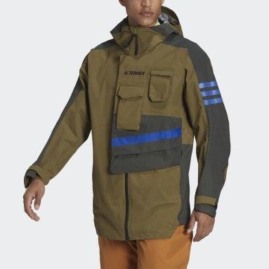 Chaqueta impermeable con capucha Terrex Xploric Verde Hombre TERREX