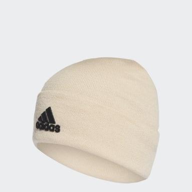 Bonnet Logo Blanc Fitness Et Training