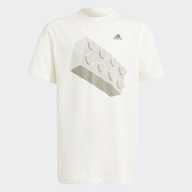Camiseta adidas x LEGO® Estampada Blanco Niño Training
