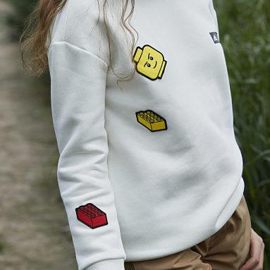 Děti Cvičení A Trénink bílá Mikina adidas x LEGO® Baumhaus