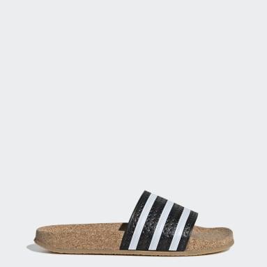 Kvinder Originals Sort adilette Cork sandaler
