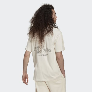 T-shirt Graphics Tricolor Blanc Hommes Originals