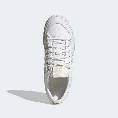 Women Originals White Nizza Platform Shoes