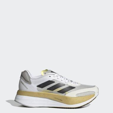 Women Running White Adizero Boston 10 TME Shoes