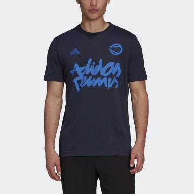 Men's Tennis Blue Tennis Graphic Tee