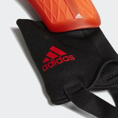 Soccer Orange X Match Shin Guards