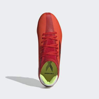 Kids Football Red X Speedflow.3 Multiground Boots