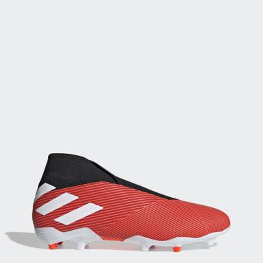 Calzado de Fútbol Nemeziz 19.3 Terreno Firme Rojo Hombre Fútbol