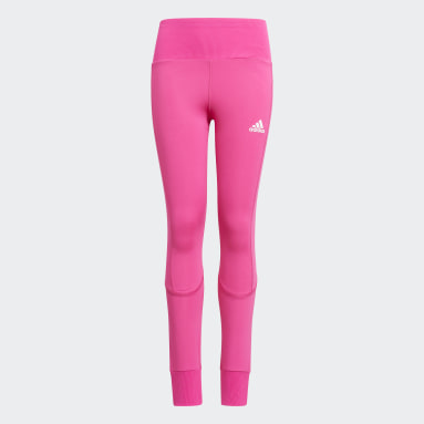 Youth 8-16 Years Yoga Pink AEROREADY High-Rise Comfort Workout Yoga Tights