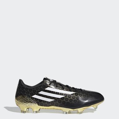 Heren Voetbal Zwart F50 Ghosted Adizero Crazylight Firm Ground Voetbalschoenen
