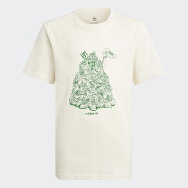 Camiseta Estampada Algodón Orgánico Blanco Niño Originals