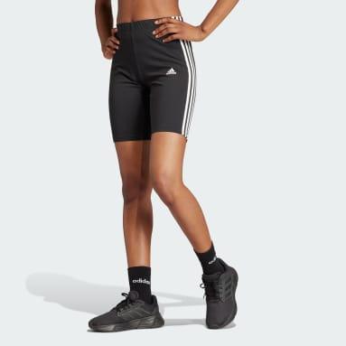 Women Sport Inspired Black Essentials 3-Stripes Bike Shorts