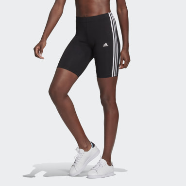 Shorts Essentials 3-Stripes Bike Preto Mulher essentials