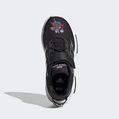 Children Essentials Black Marvel Superhero Racer TR 2.0 Shoes