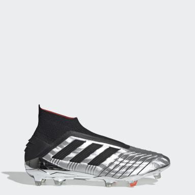 Calzado de Fútbol Predator 19+ Terreno Firme Plata Hombre Fútbol