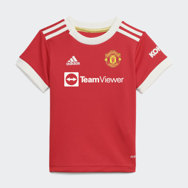 Deti Futbal červená Súprava Manchester United 21/22 Home Baby
