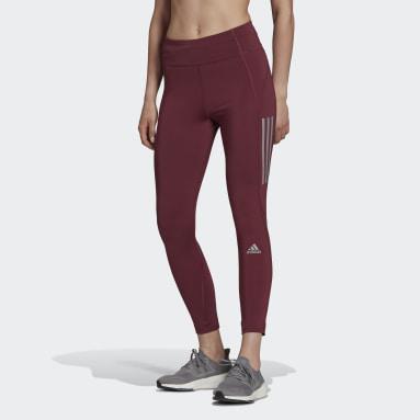 Kvinder HIIT Burgundy Own the Run 7/8 Running leggings
